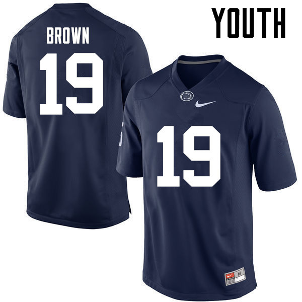 Youth Penn State Nittany Lions #19 Torrence Brown College Football Jerseys-Navy