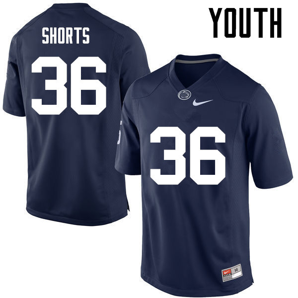 Youth Penn State Nittany Lions #36 Troy Shorts College Football Jerseys-Navy