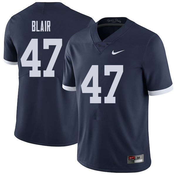 Men #47 Will Blair Penn State Nittany Lions College Throwback Football Jerseys Sale-Navy