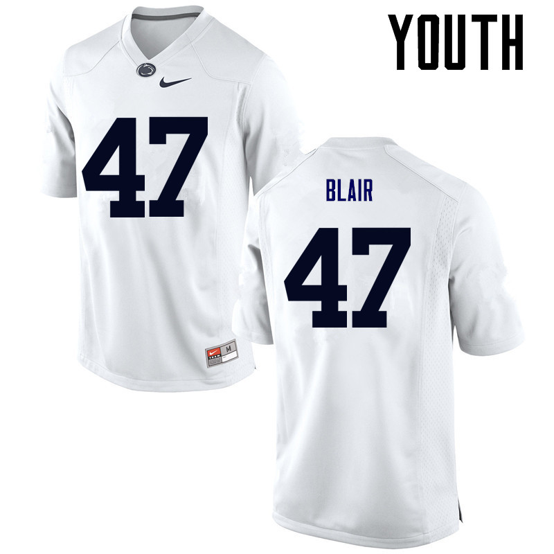 Youth Penn State Nittany Lions #47 Will Blair College Football Jerseys-White