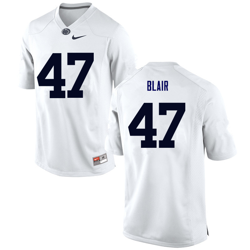 Men Penn State Nittany Lions #47 Will Blair College Football Jerseys-White