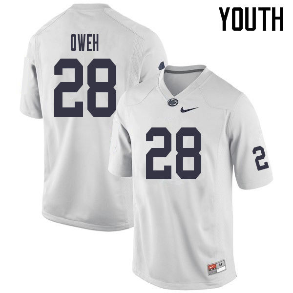 Youth #28 Jayson Oweh Penn State Nittany Lions College Football Jerseys Sale-White