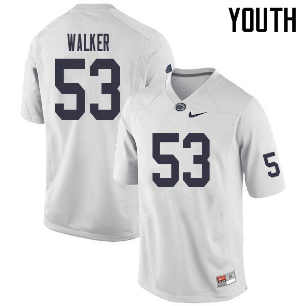 Youth #53 Rasheed Walker Penn State Nittany Lions College Football Jerseys Sale-White