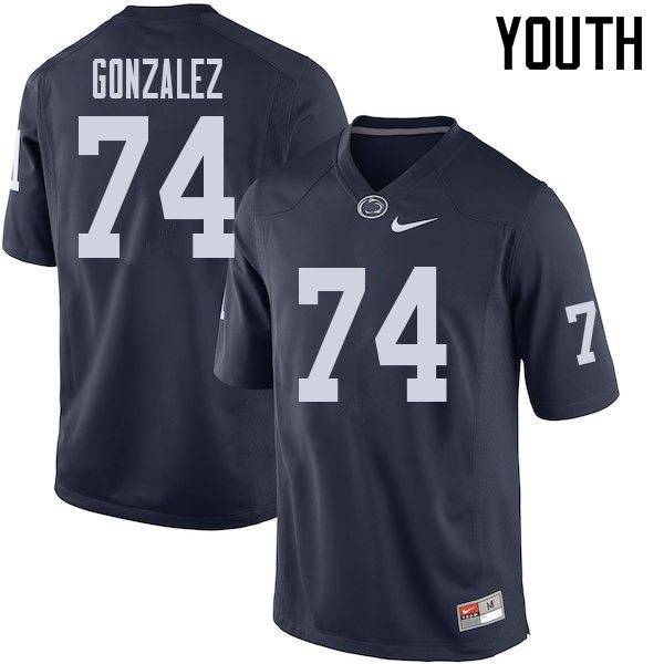 Youth #74 Steven Gonzalez Penn State Nittany Lions College Football Jerseys Sale-Navy
