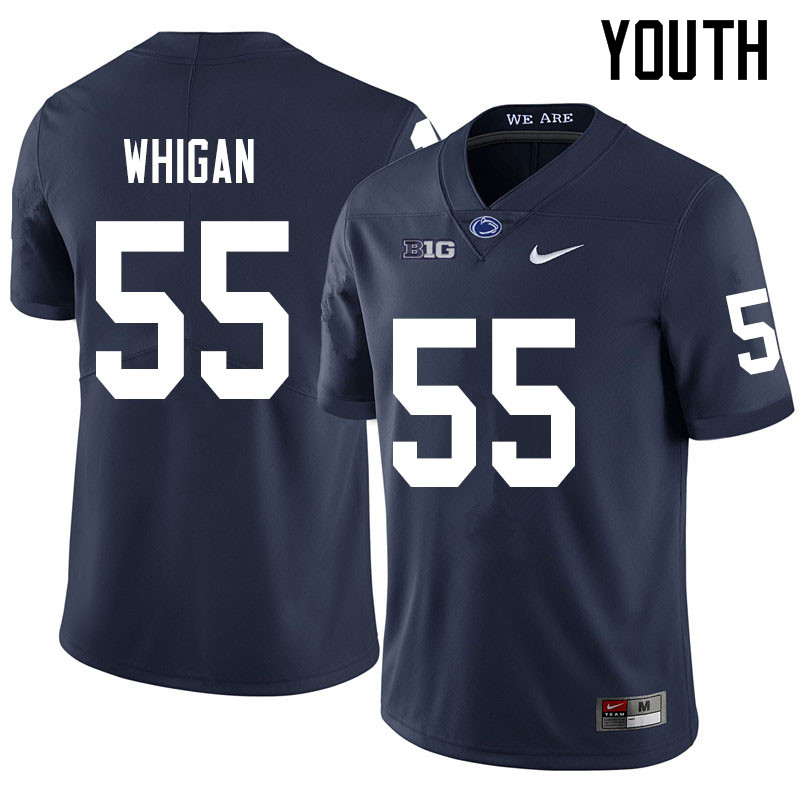 Youth #55 Anthony Whigan Penn State Nittany Lions College Football Jerseys Sale-Navy