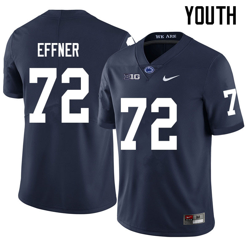Youth #72 Bryce Effner Penn State Nittany Lions College Football Jerseys Sale-Navy