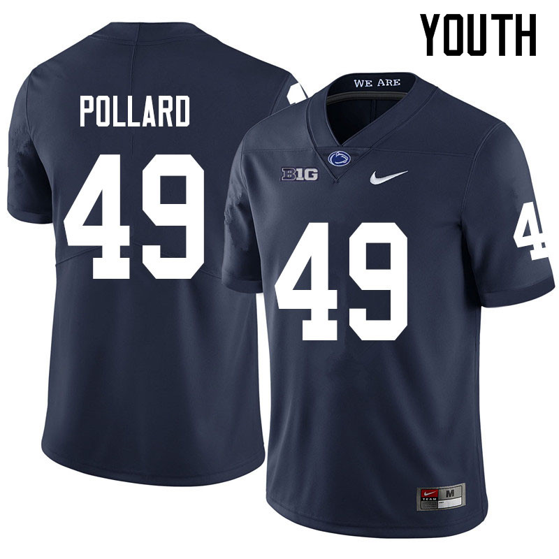 Youth #49 Cade Pollard Penn State Nittany Lions College Football Jerseys Sale-Navy