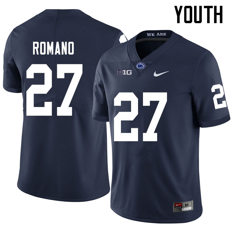 Youth #27 Cody Romano Penn State Nittany Lions College Football Jerseys Sale-Navy