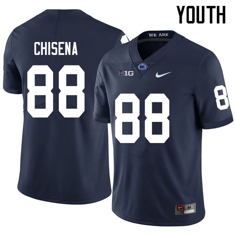 Youth #88 Dan Chisena Penn State Nittany Lions College Football Jerseys Sale-Navy