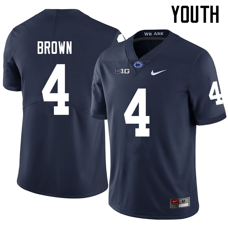 Youth #4 Journey Brown Penn State Nittany Lions College Football Jerseys Sale-Navy