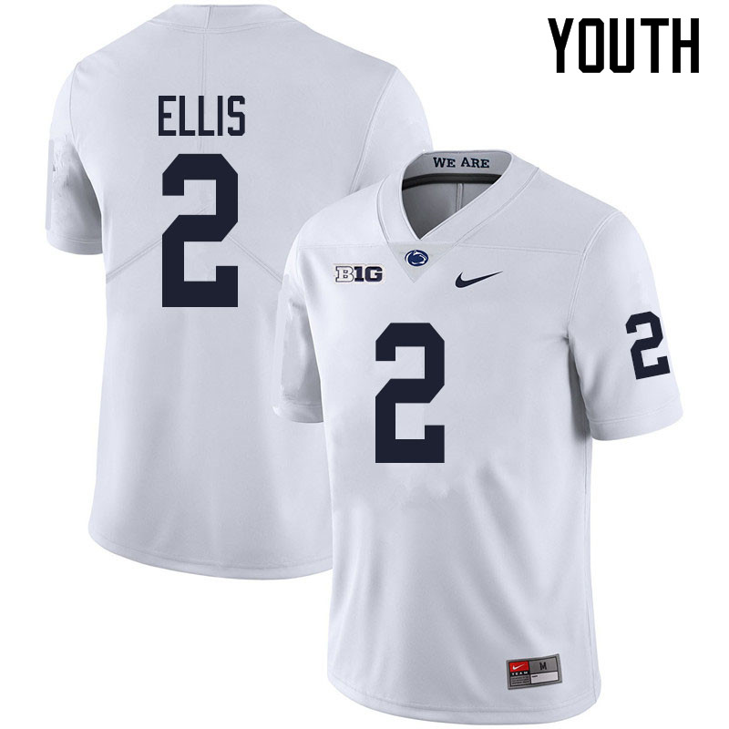 Youth #2 Keaton Ellis Penn State Nittany Lions College Football Jerseys Sale-White
