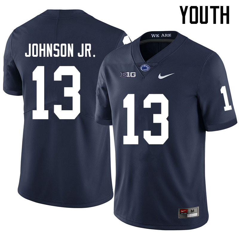 Youth #13 Michael Johnson Jr. Penn State Nittany Lions College Football Jerseys Sale-Navy