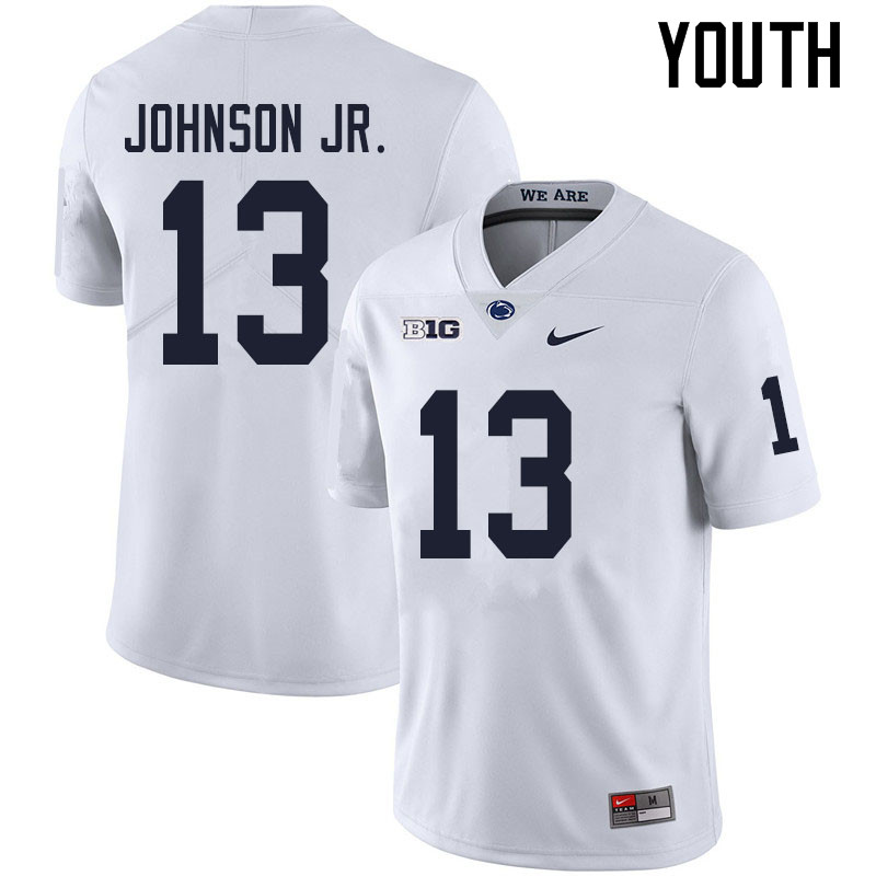 Youth #13 Michael Johnson Jr. Penn State Nittany Lions College Football Jerseys Sale-White
