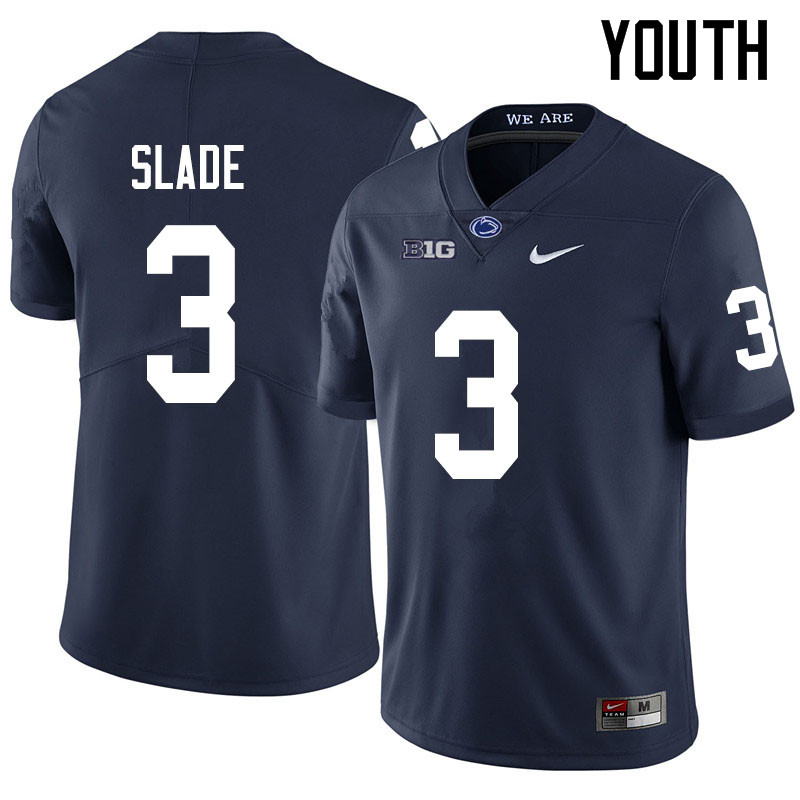 Youth #3 Ricky Slade Penn State Nittany Lions College Football Jerseys Sale-Navy