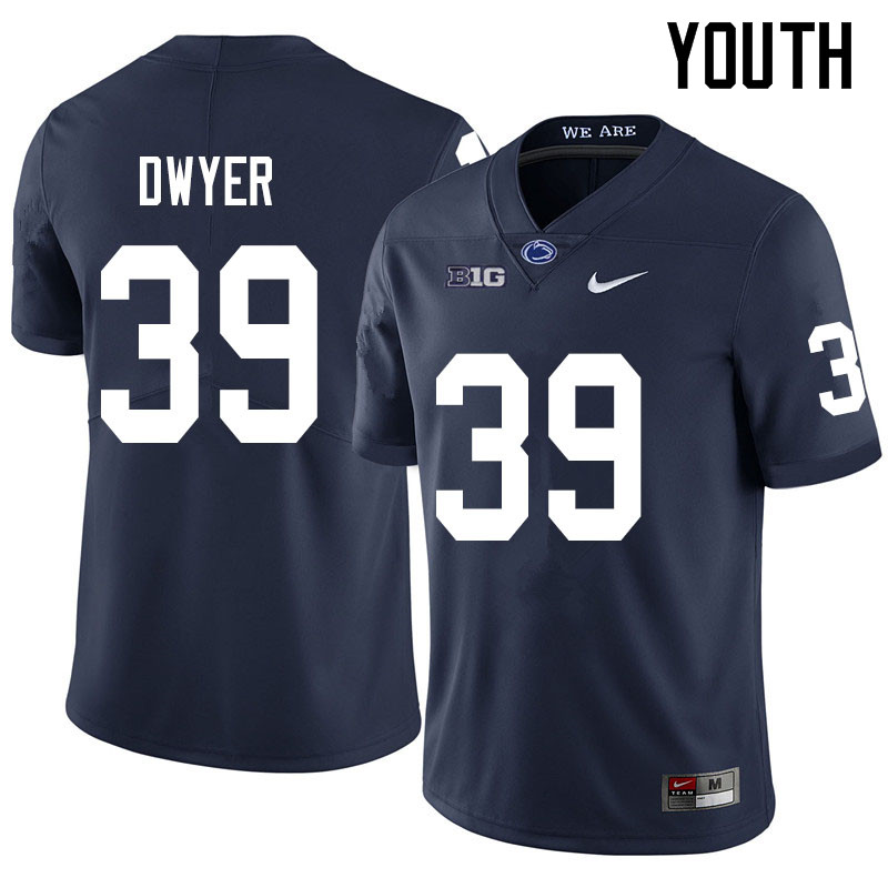 Youth #39 Robbie Dwyer Penn State Nittany Lions College Football Jerseys Sale-Navy