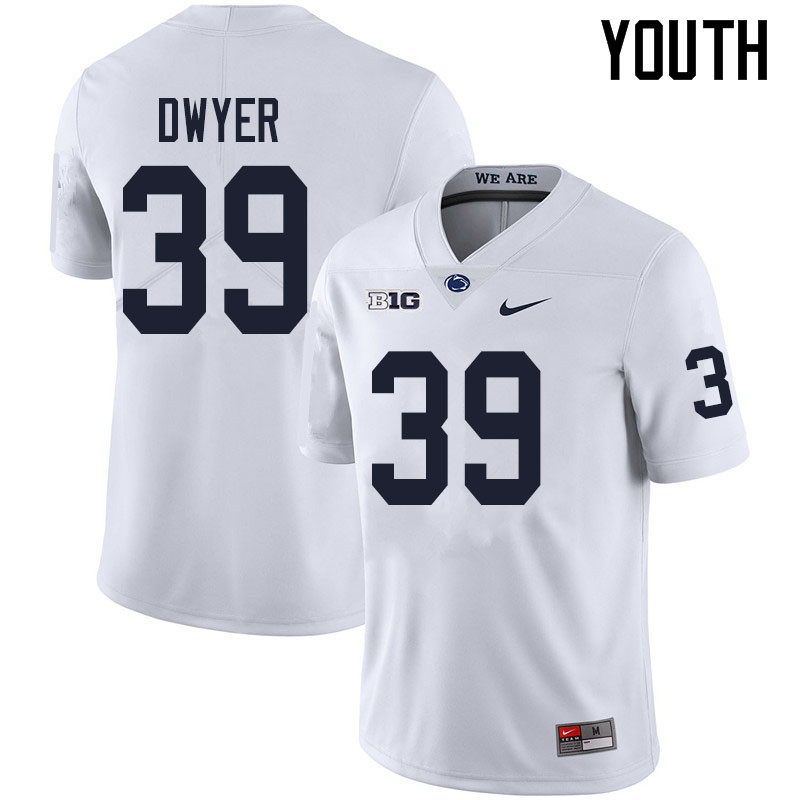 Youth #39 Robbie Dwyer Penn State Nittany Lions College Football Jerseys Sale-White