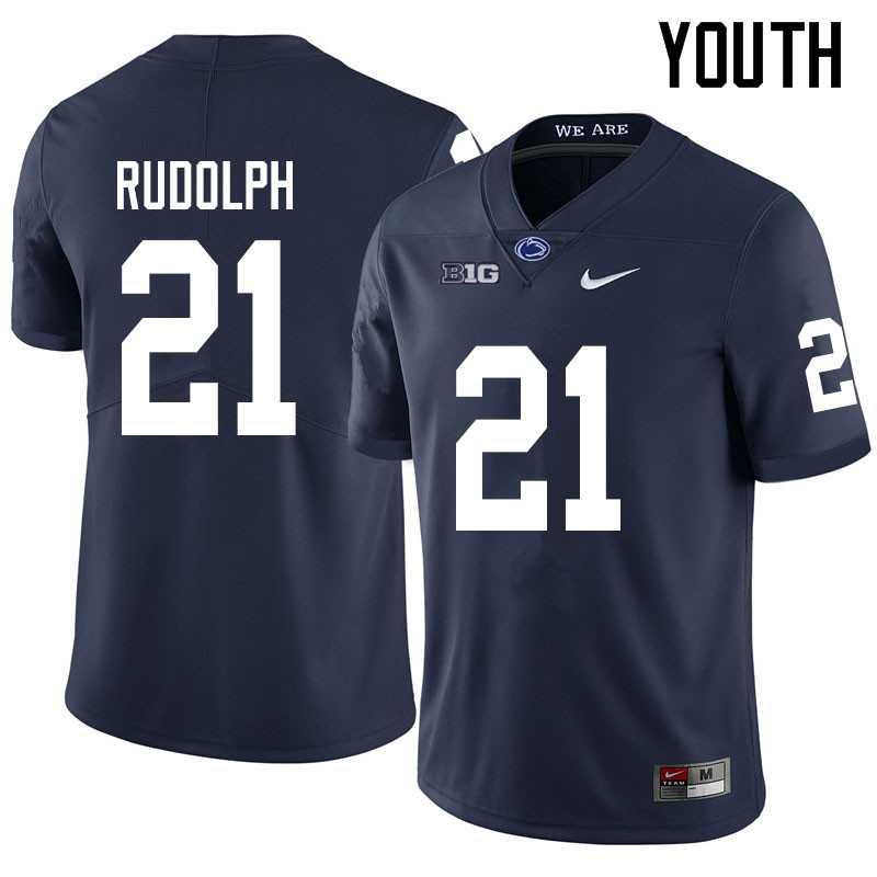 Youth #21 Tyler Rudolph Penn State Nittany Lions College Football Jerseys Sale-Navy