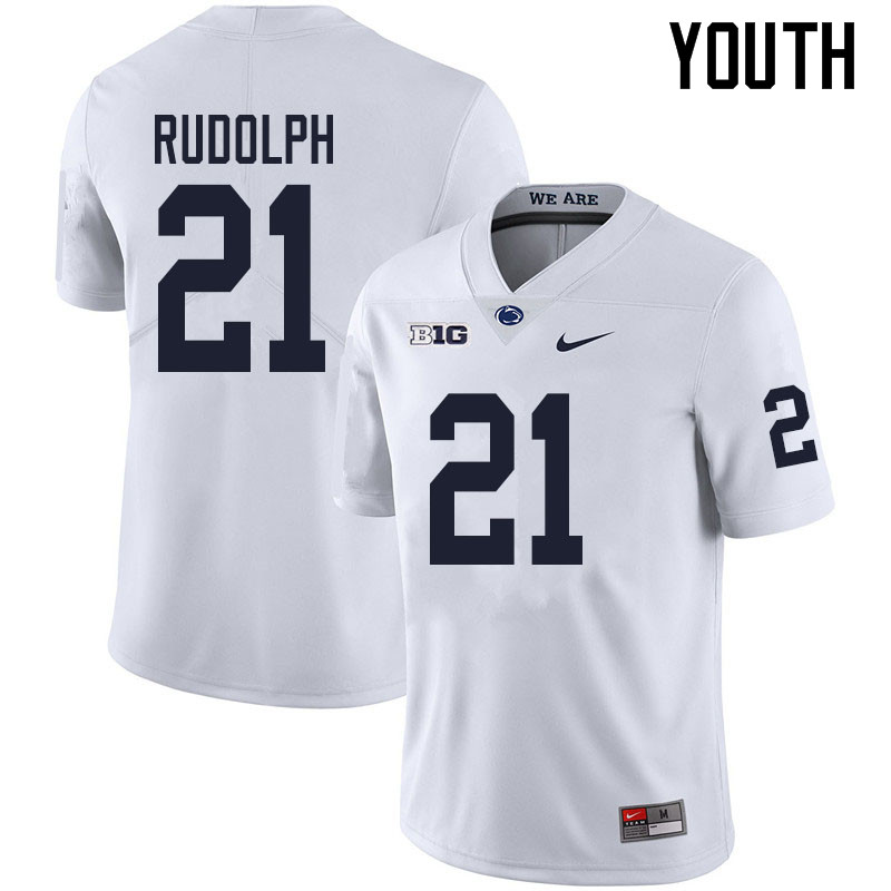 Youth #21 Tyler Rudolph Penn State Nittany Lions College Football Jerseys Sale-White