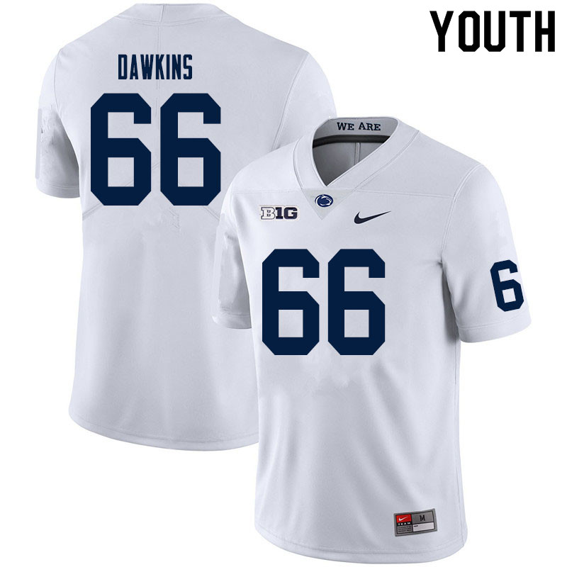Youth #66 Nick Dawkins Penn State Nittany Lions College Football Jerseys Sale-White