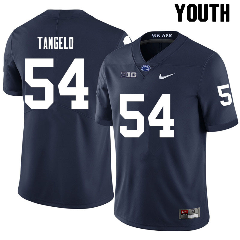 Youth #54 Derrick Tangelo Penn State Nittany Lions College Football Jerseys Sale-Navy