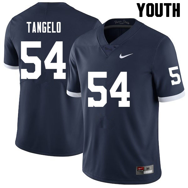 Youth #54 Derrick Tangelo Penn State Nittany Lions College Football Jerseys Sale-Retro
