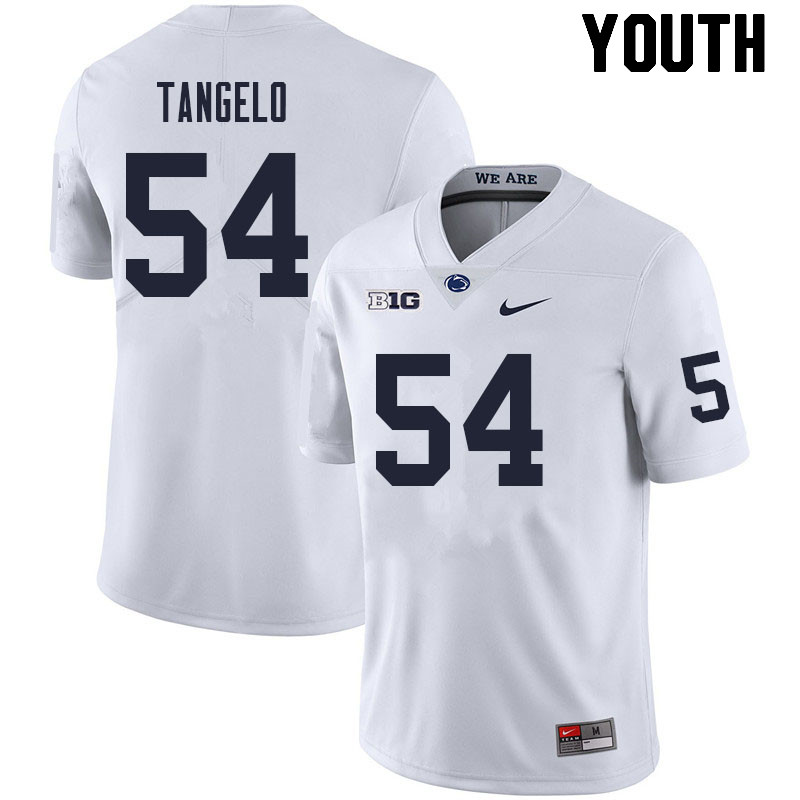 Youth #54 Derrick Tangelo Penn State Nittany Lions College Football Jerseys Sale-White