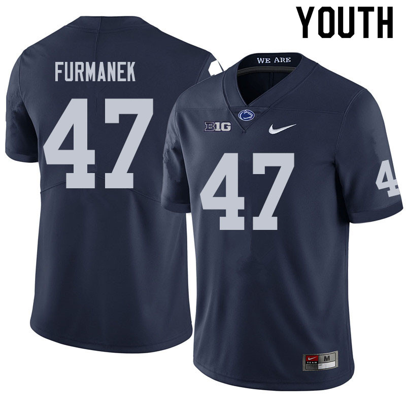 Youth #47 Alex Furmanek Penn State Nittany Lions College Football Jerseys Sale-Navy