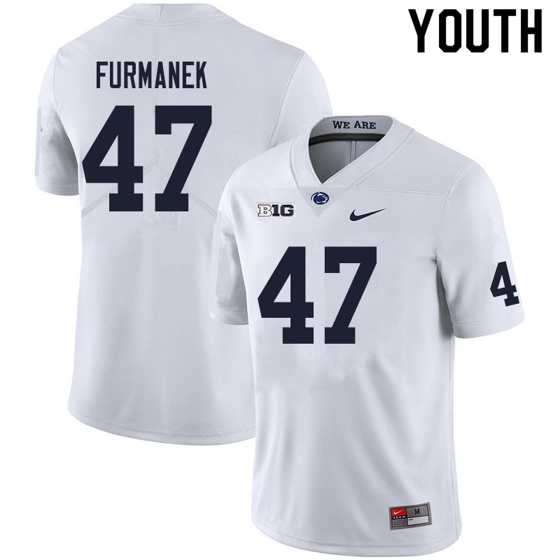 Youth #47 Alex Furmanek Penn State Nittany Lions College Football Jerseys Sale-White