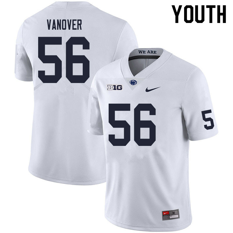 Youth #56 Amin Vanover Penn State Nittany Lions College Football Jerseys Sale-White
