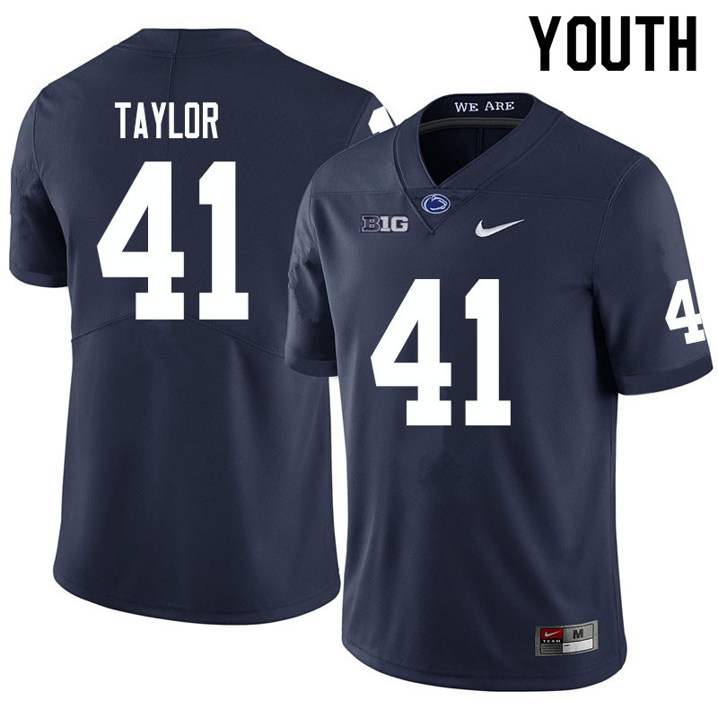 Youth #41 Brandon Taylor Penn State Nittany Lions College Football Jerseys Sale-Navy