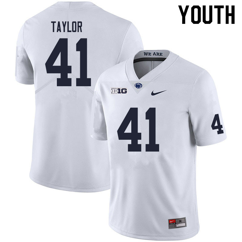 Youth #41 Brandon Taylor Penn State Nittany Lions College Football Jerseys Sale-White