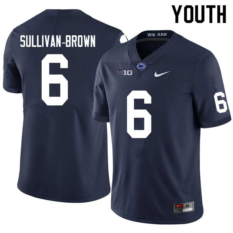 Youth #6 Cam Sullivan-Brown Penn State Nittany Lions College Football Jerseys Sale-Navy