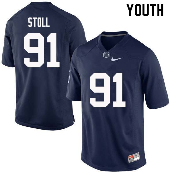 Youth #91 Chris Stoll Penn State Nittany Lions College Football Jerseys Sale-Navy