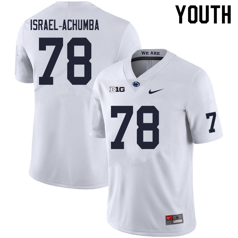 Youth #78 Golden Israel-Achumba Penn State Nittany Lions College Football Jerseys Sale-White