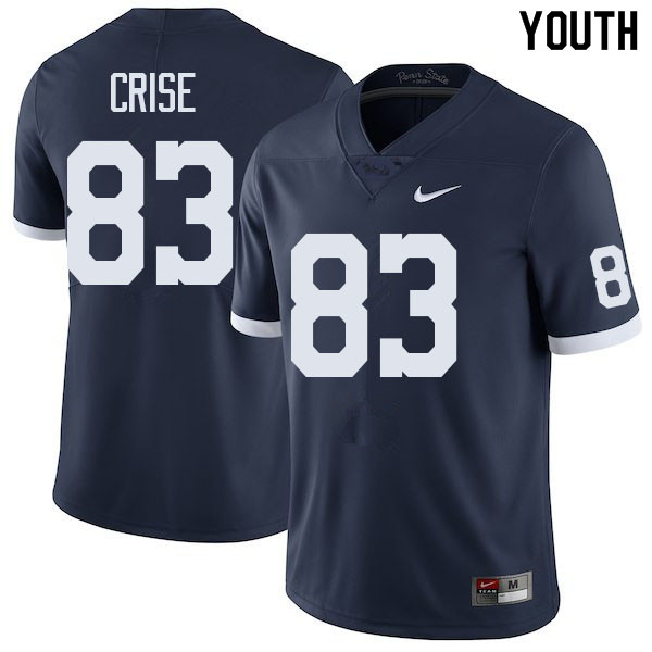 Youth #83 Johnny Crise Penn State Nittany Lions College Football Jerseys Sale-Retro