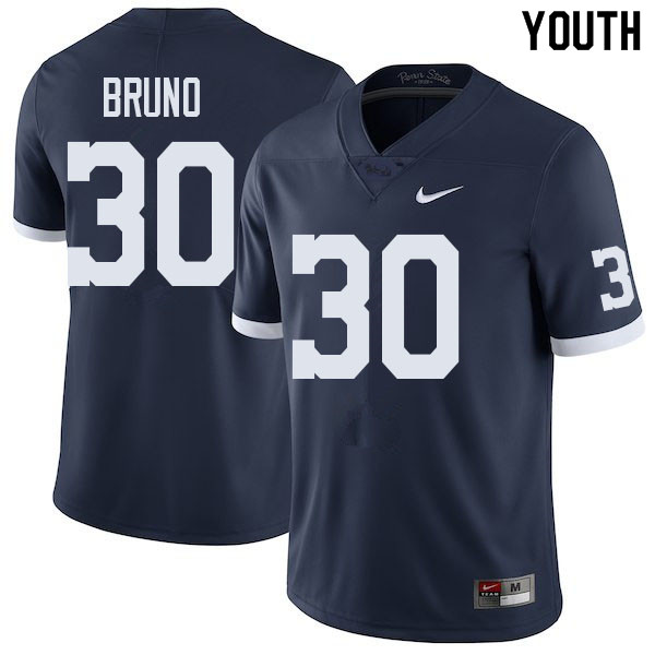 Youth #30 Joseph Bruno Penn State Nittany Lions College Football Jerseys Sale-Retro