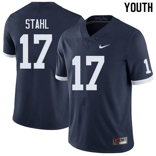 Youth #17 Mason Stahl Penn State Nittany Lions College Football Jerseys Sale-Retro