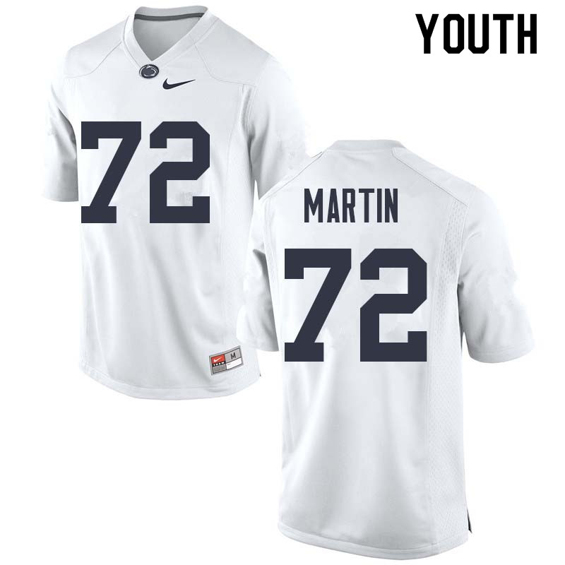 Youth #72 Robbie Martin Penn State Nittany Lions College Football Jerseys Sale-White