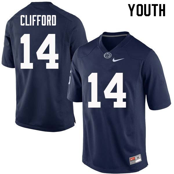 Youth #14 Sean Clifford Penn State Nittany Lions College Football Jerseys Sale-Navy