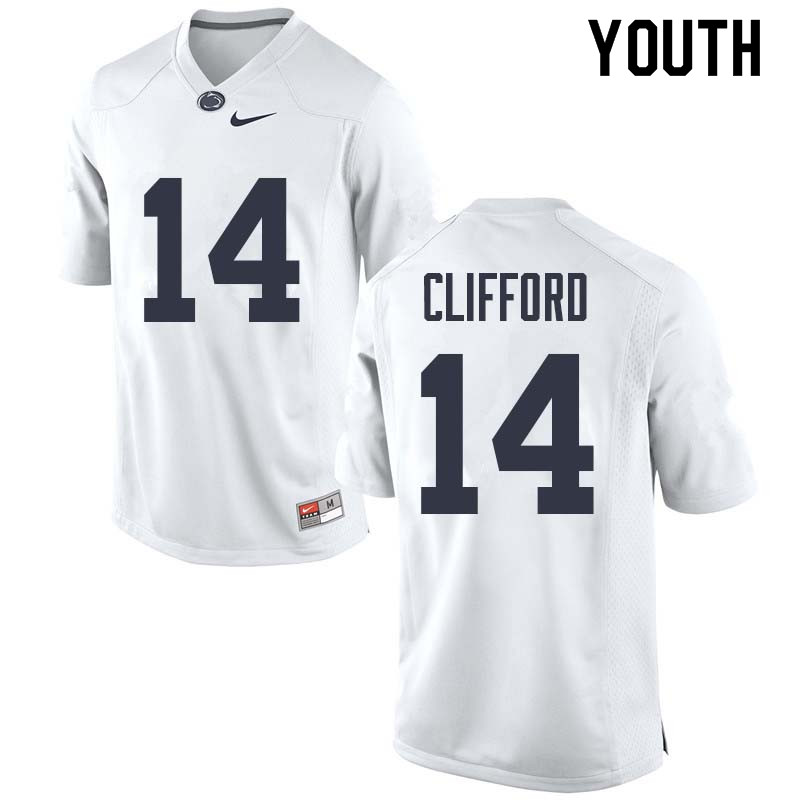 Youth #14 Sean Clifford Penn State Nittany Lions College Football Jerseys Sale-White