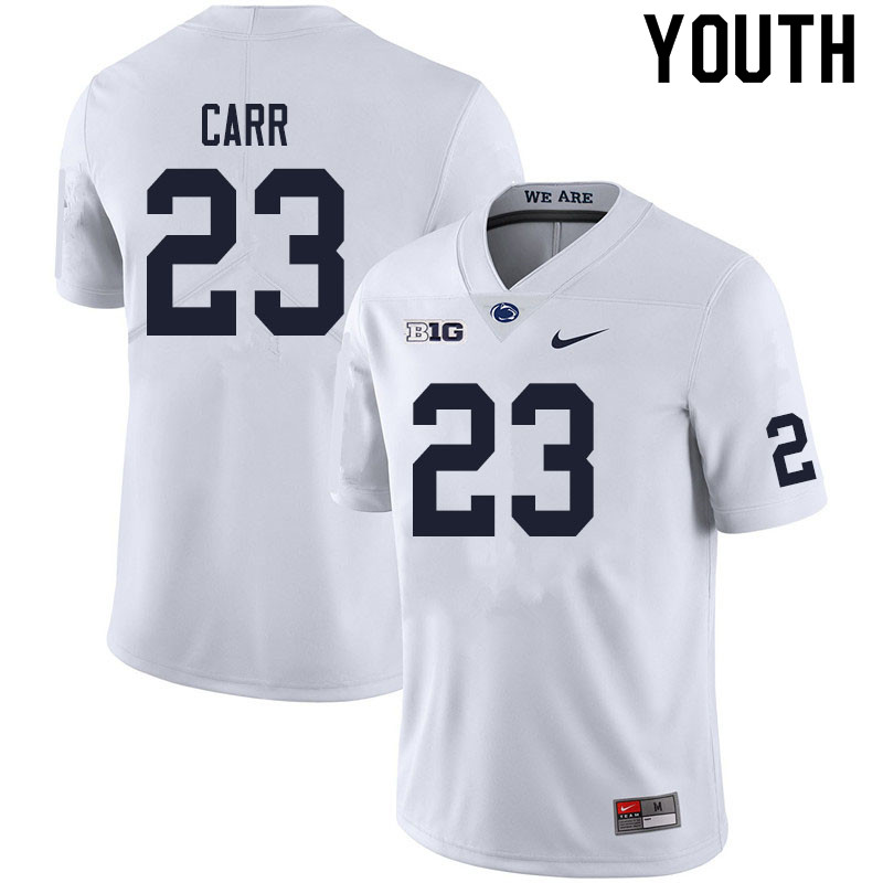 Youth #23 Weston Carr Penn State Nittany Lions College Football Jerseys Sale-White
