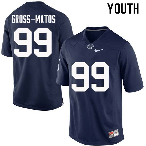 Youth #99 Yetur Gross-Matos Penn State Nittany Lions College Football Jerseys Sale-Navy