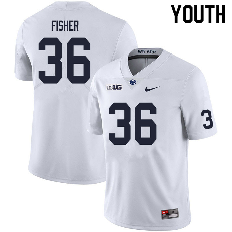 Youth #36 Zuriah Fisher Penn State Nittany Lions College Football Jerseys Sale-White