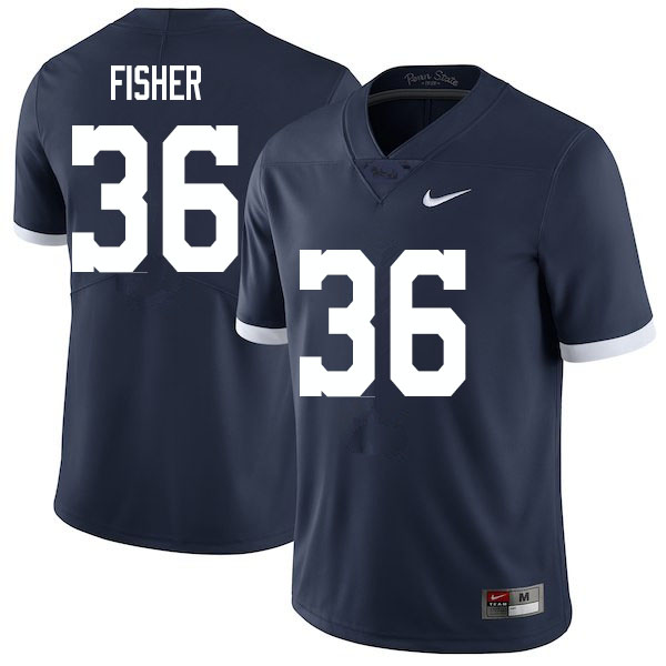 Men #36 Zuriah Fisher Penn State Nittany Lions College Football Jerseys Sale-Retro