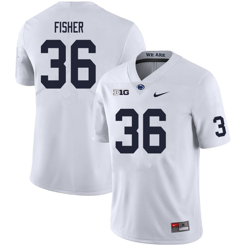 Men #36 Zuriah Fisher Penn State Nittany Lions College Football Jerseys Sale-White